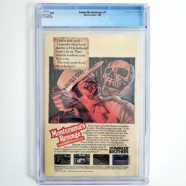 Conan the Destroyer #1 CGC 9.4 NM Back