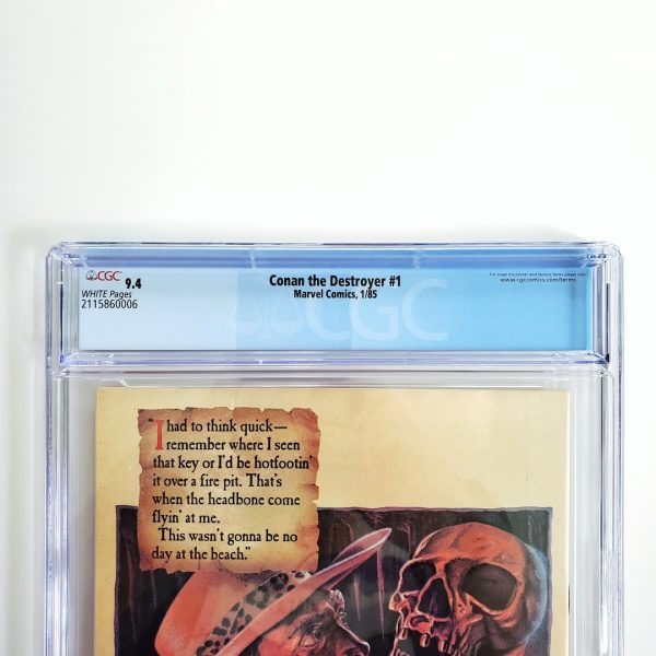 Conan the Destroyer #1 CGC 9.4 NM Back Label