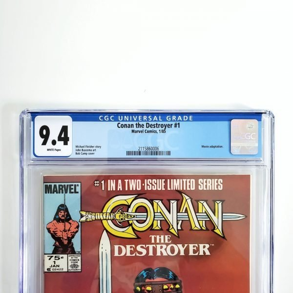 Conan the Destroyer #1 CGC 9.4 NM Front Label