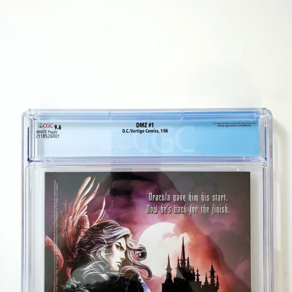 DMZ #1 CGC 9.6 NM+ Back Label