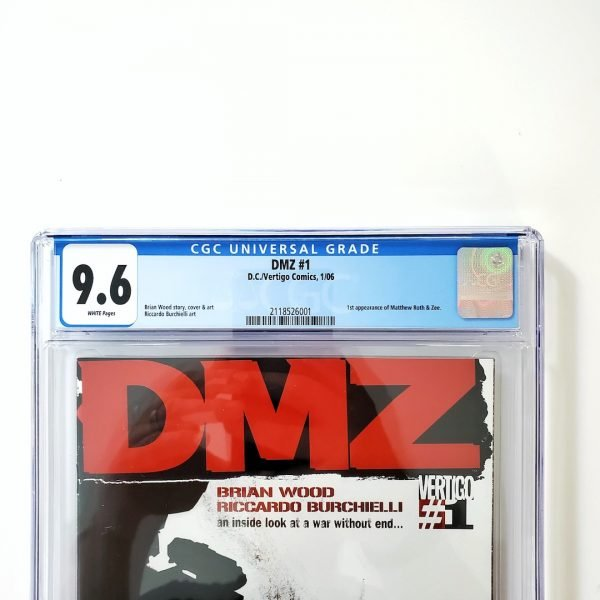 DMZ #1 CGC 9.6 NM+ Front Label