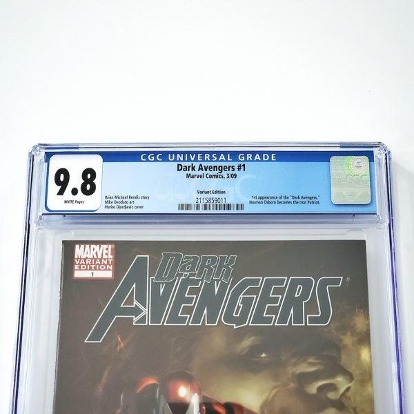 Dark Avengers #1 CGC 9.8 NM/M Djurdjevic Variant Front Label
