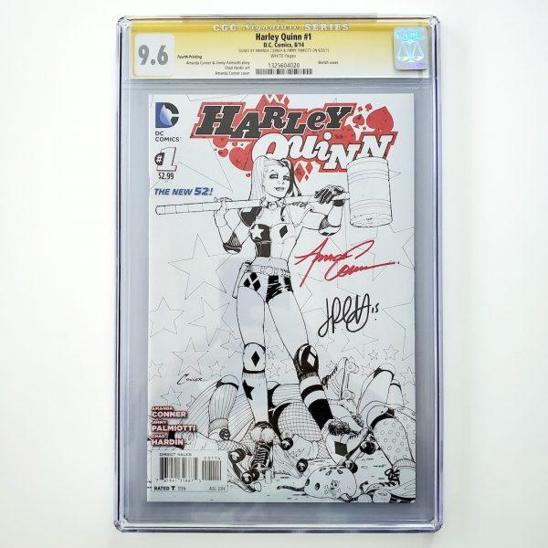 Harley Quinn #1 CGC SS 9.6 NM+ 4th Print Sketch Variant Front