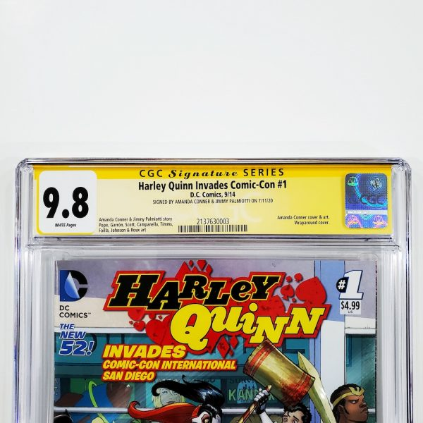 Harley Quinn Invades Comic-Con International: San Diego #1 CGC SS 9.8 NM/M Front Label