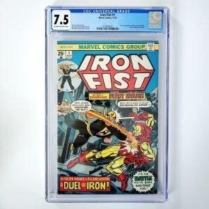 Iron Fist #1 CGC 7.5 VF- Front