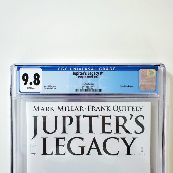Jupiter's Legacy #1 CGC 9.8 NM/M Sketch Edition Front Label