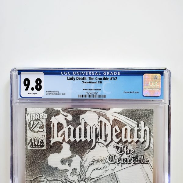 Lady Death: The Crucible #1/2 CGC 9.8 NM/M Wizard Special Edition Front Label