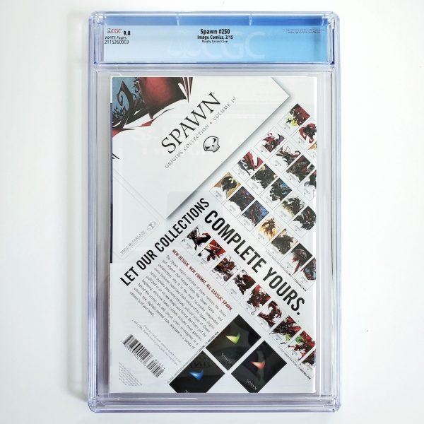 Spawn #250 CGC 9.8 NM/M Murphy Variant Back