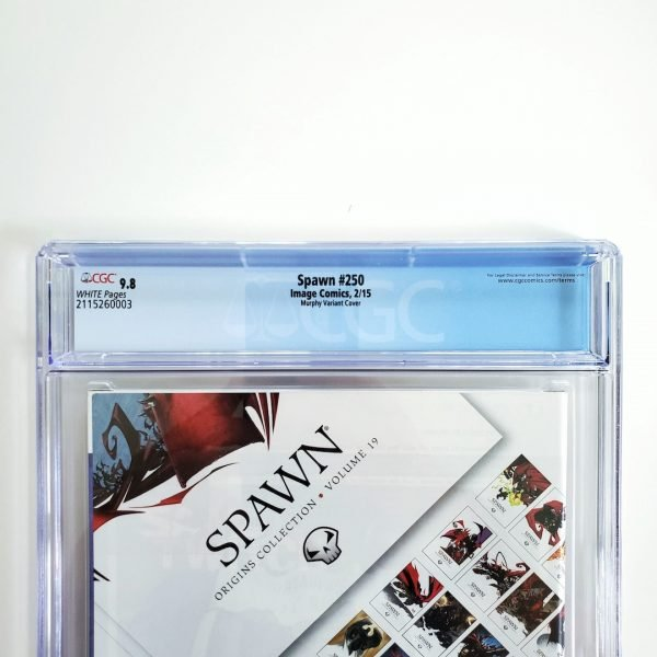 Spawn #250 CGC 9.8 NM/M Murphy Variant Back Label