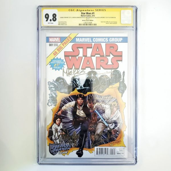 Star Wars #1 CGC SS 9.8 NM/M Heroes Haven Variant Front