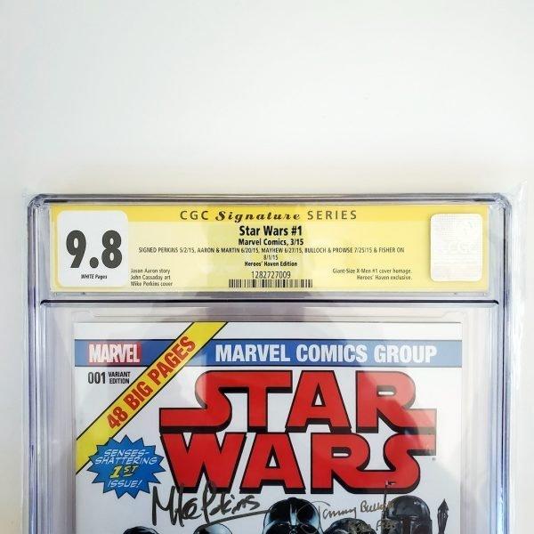 Star Wars #1 CGC SS 9.8 NM/M Heroes Haven Variant Front Label
