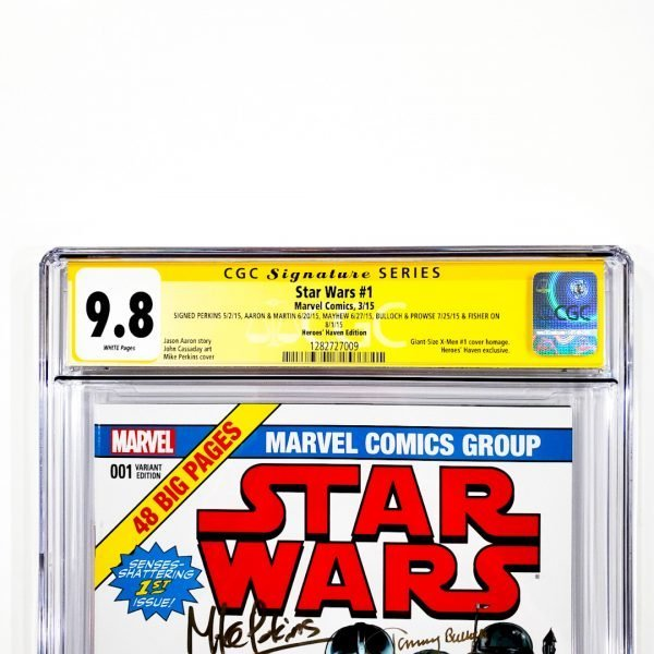 Star Wars (2015) #1 CGC SS 9.8 NM/M Heroes Haven Variant Front Label