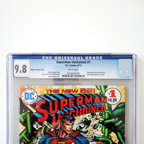 Superman Unchained #1 CGC 9.8 NM/M Neal Adams Variant Front Label