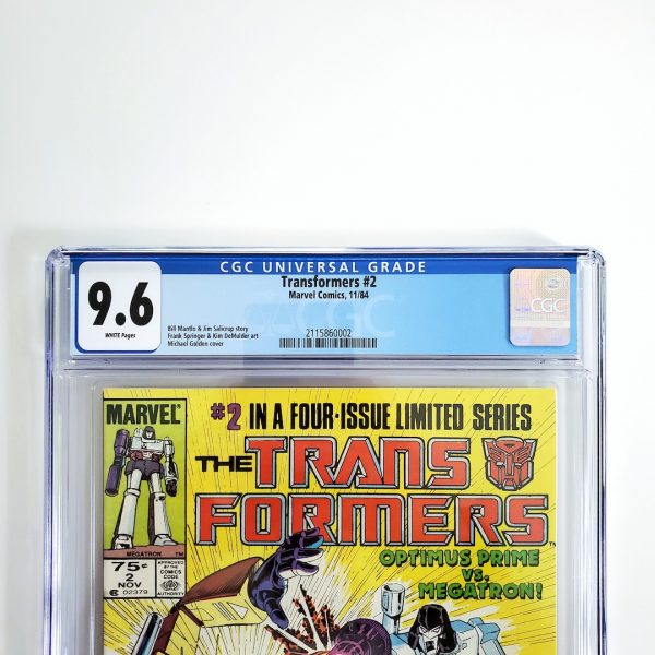 Transformers #2 CGC 9.6 NM+ Front Label