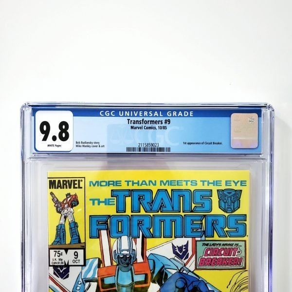 Transformers #9 CGC 9.8 NM/M Front Label