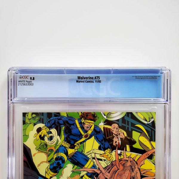 Wolverine #75 CGC 9.8 NM/M Back Label