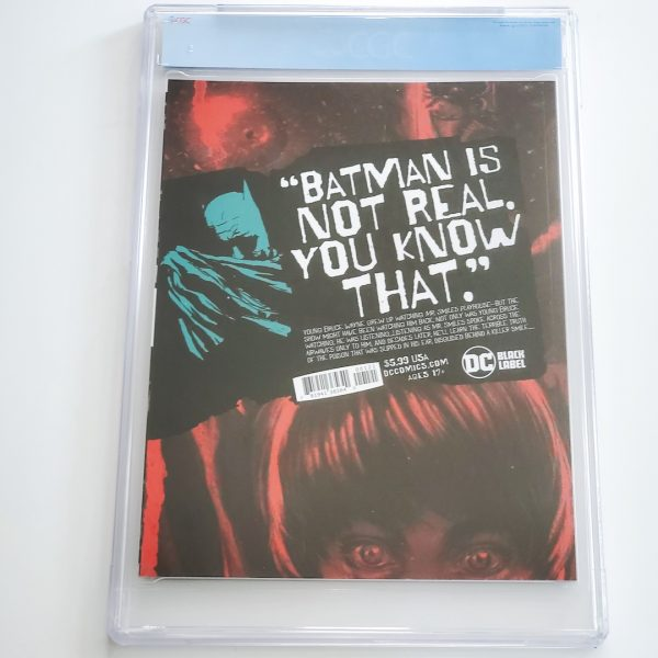 Batman: The Smile Killer #1 CGC 9.8 NM/M Variant Back