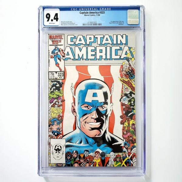 Captain America #323 CGC 9.4 NM Front