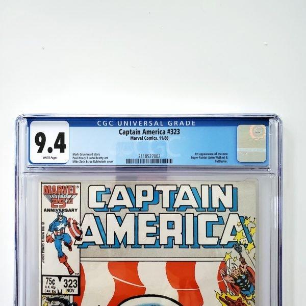 Captain America #323 CGC 9.4 NM Front Label