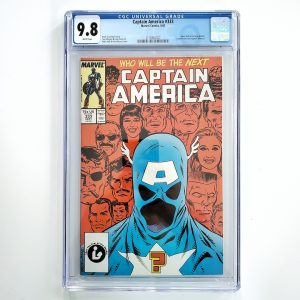 Captain America #333 CGC 9.8 NM/M Front