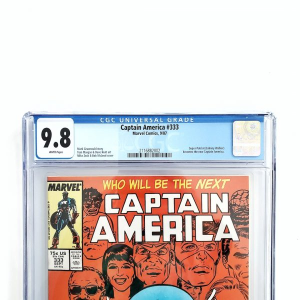 Captain America #333 CGC 9.8 NM/M Front Label