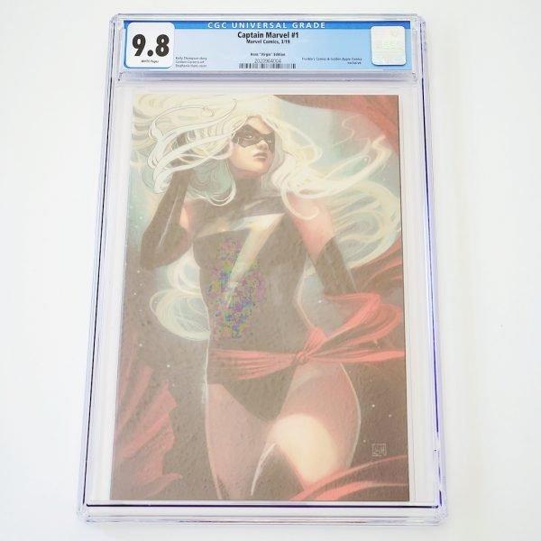 Captain Marvel (2019) #1 CGC 9.8 NM/M Hans Virgin Variant Front