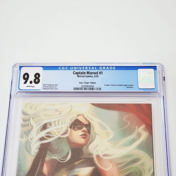 Captain Marvel (2019) #1 CGC 9.8 NM/M Hans Virgin Variant Front Label