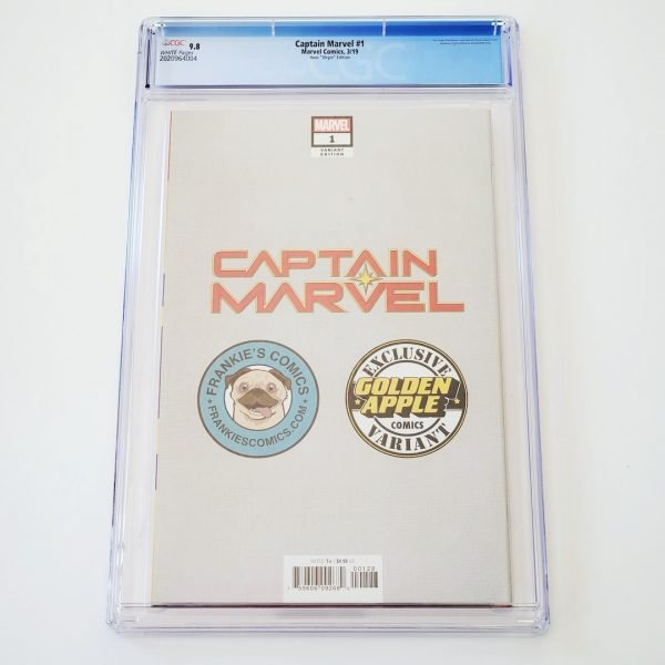 Captain Marvel (2019) #1 CGC 9.8 NM/M Hans Virgin Variant Back
