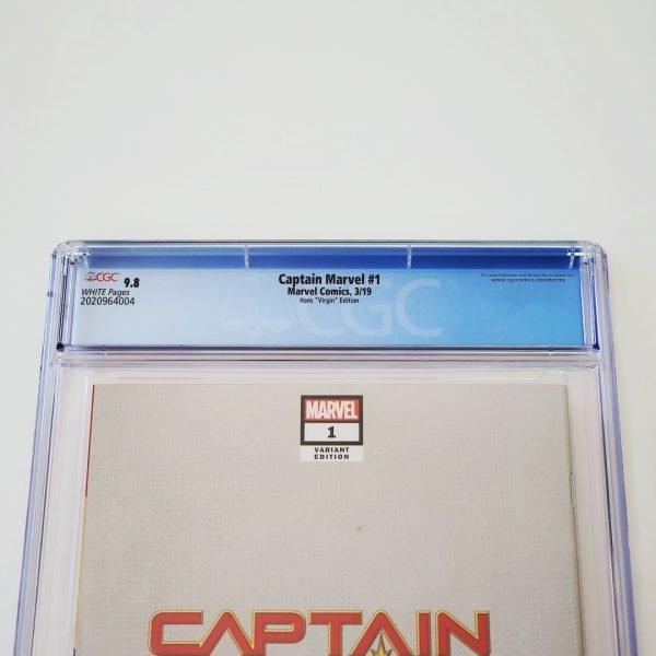Captain Marvel (2019) #1 CGC 9.8 NM/M Hans Virgin Variant Back Label