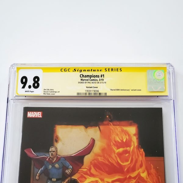 Champions (2019) #1 CGC SS 9.8 NM/M Marvel 80th Anniversary Variant Front Label
