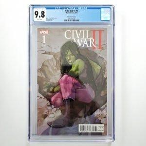 Civil War II #1 CGC 9.8 NM/M Phil Noto Variant Front