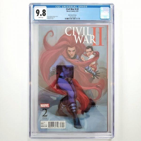Civil War II #2 CGC 9.8 NM/M Phil Noto Variant Front