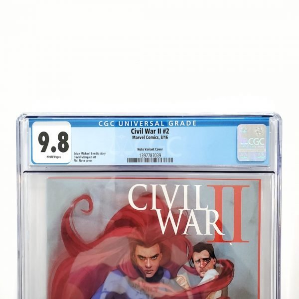 Civil War II #2 CGC 9.8 NM/M Phil Noto Variant Front Label