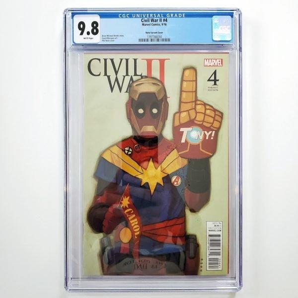 Civil War II #4 CGC 9.8 NM/M Phil Noto Variant Front
