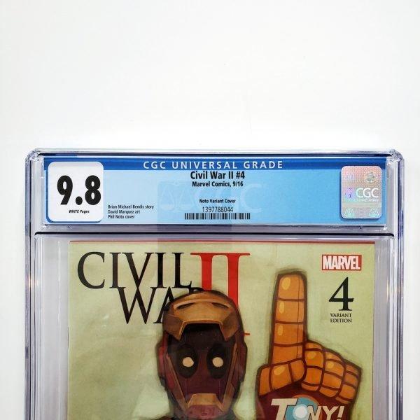 Civil War II #4 CGC 9.8 NM/M Phil Noto Variant Front Label