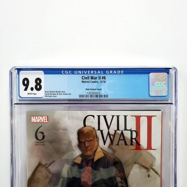 Civil War II #6 CGC 9.8 NM/M Phil Noto Variant Front Label