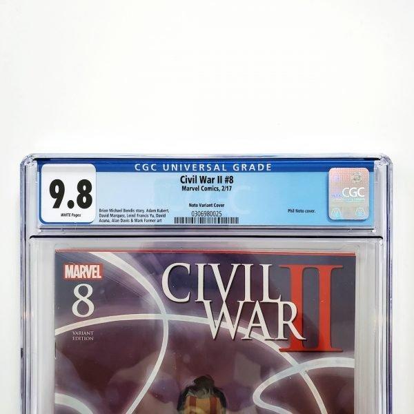 Civil War II #8 CGC 9.8 NM/M Phil Noto Variant Front Label