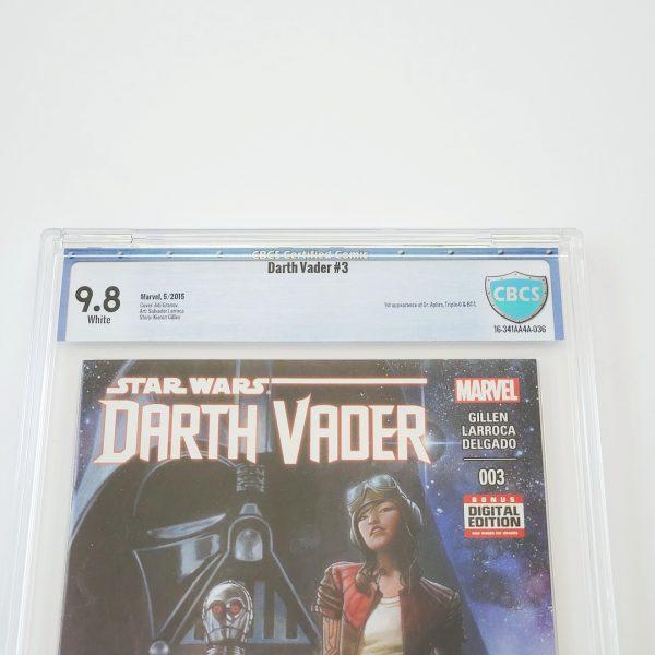 Darth Vader (2015) #3 CBCS 9.8 NM/M Front Label