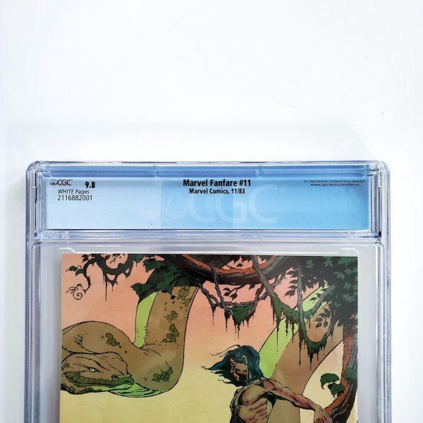 Marvel Fanfare #11 CGC 9.8 NM/M Back Label