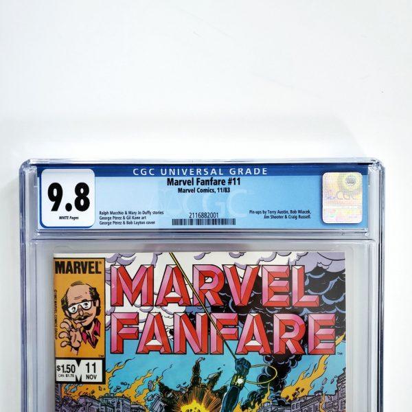 Marvel Fanfare #11 CGC 9.8 NM/M Front Label