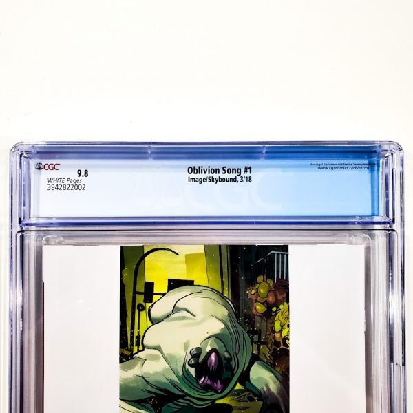Oblivion Song #1 CGC 9.8 NM/M Back Label
