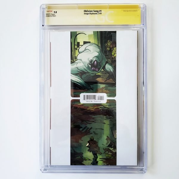 Oblivion Song #1 CGC SS 9.8 NM/M Back
