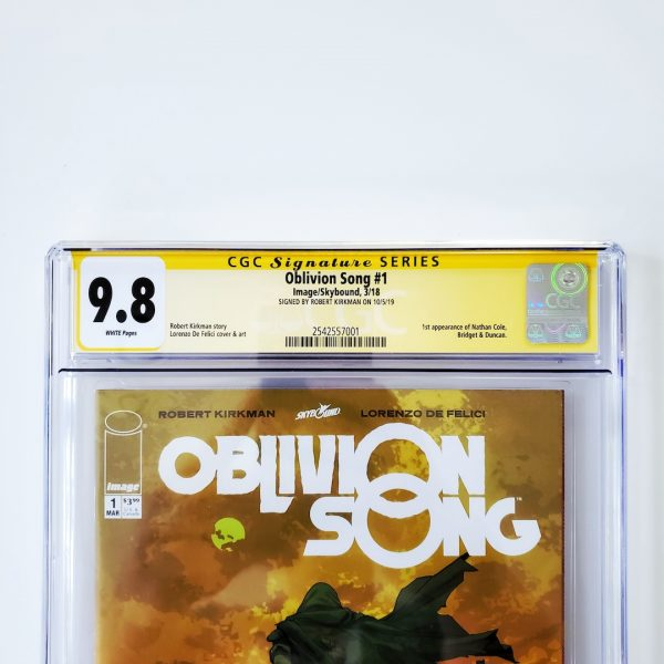 Oblivion Song #1 CGC SS 9.8 NM/M Front Label