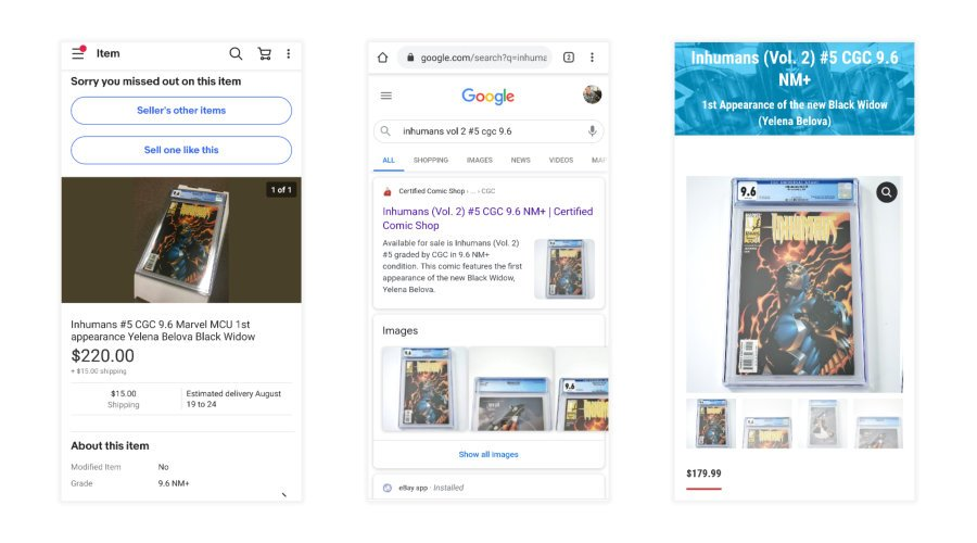 Search Google before buying comics on eBay