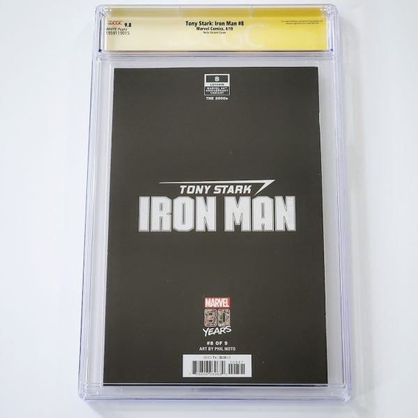 Tony Stark: Iron Man #8 CGC SS 9.8 NM/M Marvel 80th Anniversary Variant Back
