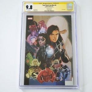Tony Stark: Iron Man #8 CGC SS 9.8 NM/M Marvel 80th Anniversary Variant Front