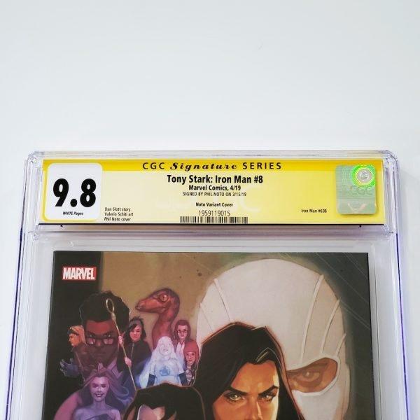 Tony Stark: Iron Man #8 CGC SS 9.8 NM/M Marvel 80th Anniversary Variant Front Label