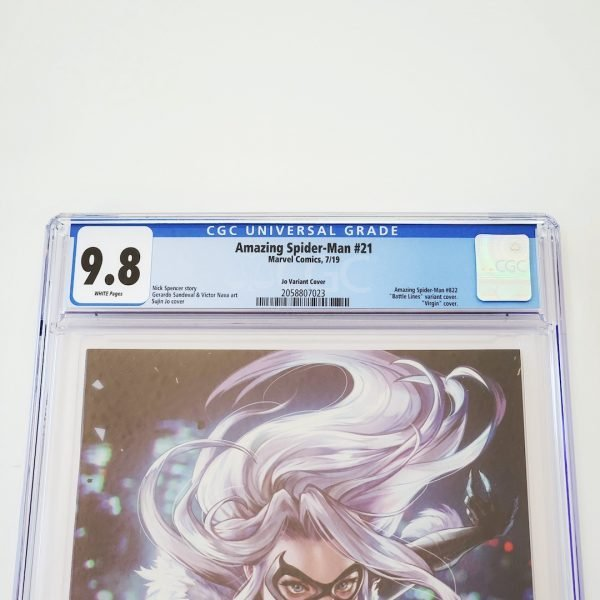 Amazing Spider-Man (2018) #21 CGC 9.8 NM/M Battle Lines Variant Front Label