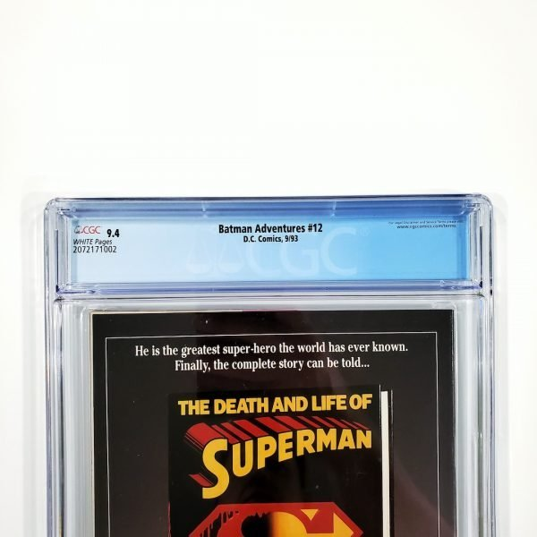 Batman Adventures #12 CGC 9.4 NM Back Label