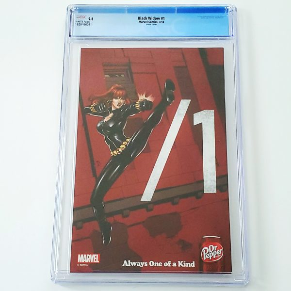 Black Widow (2014) #1 CGC 9.8 NM/M J. Scott Campbell Sketch Variant Back